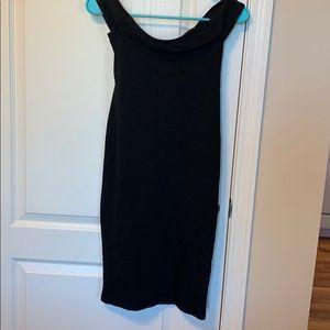 Long tight black dress
